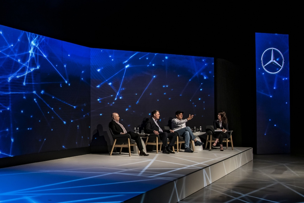 台灣賓士展現對於傳統大廠轉型成為移動服務的提供者的決心,以未來論壇呈現出數位轉型的概念,詮釋Mercedes-Benz的 C.A.S.E.