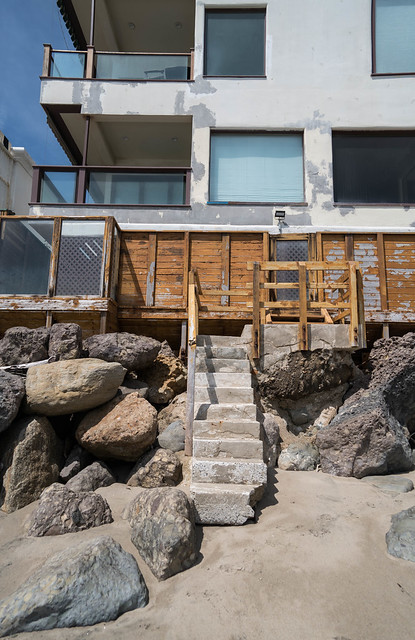 Architecture on Malibu Beach - California