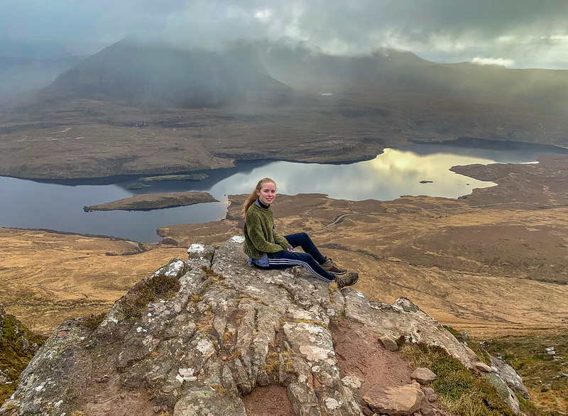 Grace on Stac Pollaidh