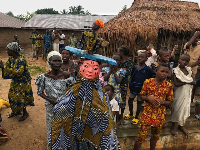 Ceremonia Gelede en Benín