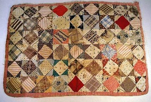 Antique doll quilt inspiration image I found