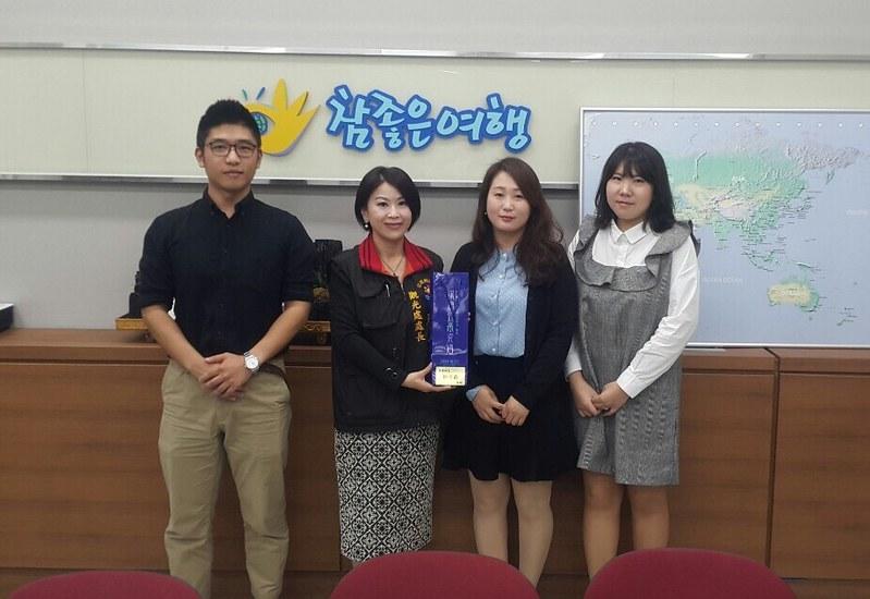 唐玉書在韓國首爾出差拜訪5家旅行社