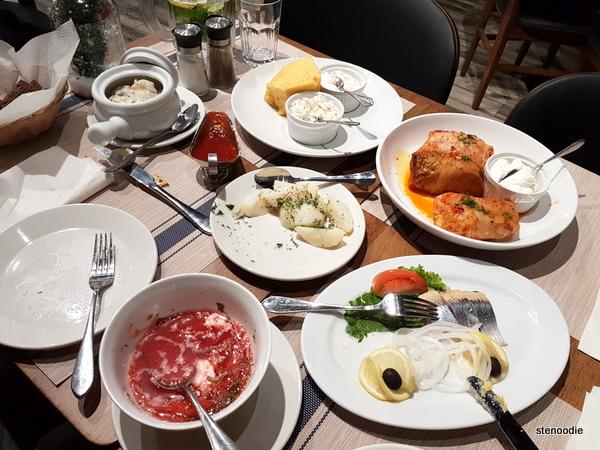 Stroganoff Restaurant meal