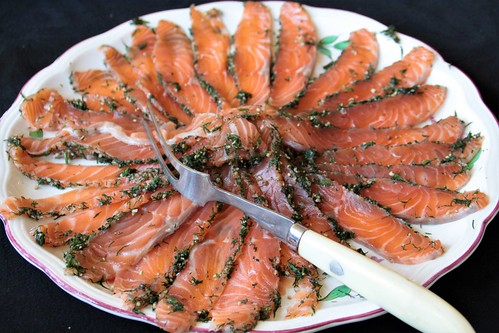 Gravad lax of Gravlax...