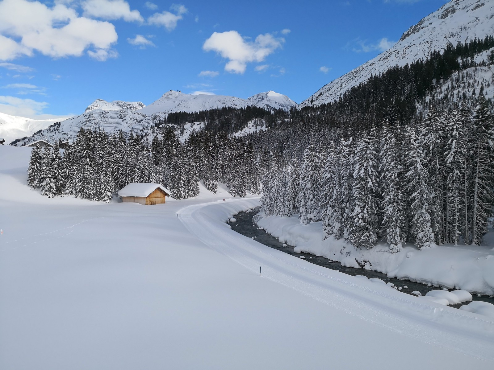 Pristine snow at Zug