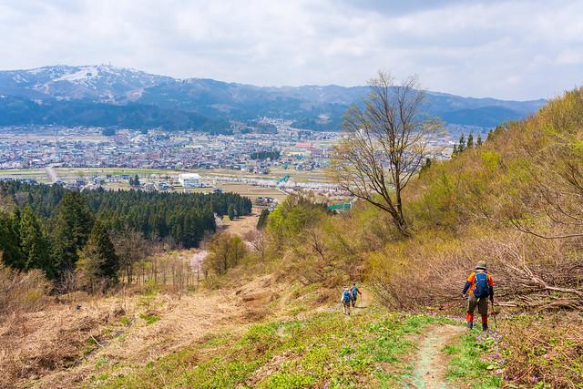 花咲く城坂コース終盤を下る