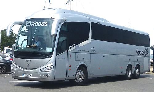 YS15 LSX 'Woods Coaches', Wigston, Leics. Irizar i6 on Dennis Basford's railsroadsrunways.blogspot.co.uk'