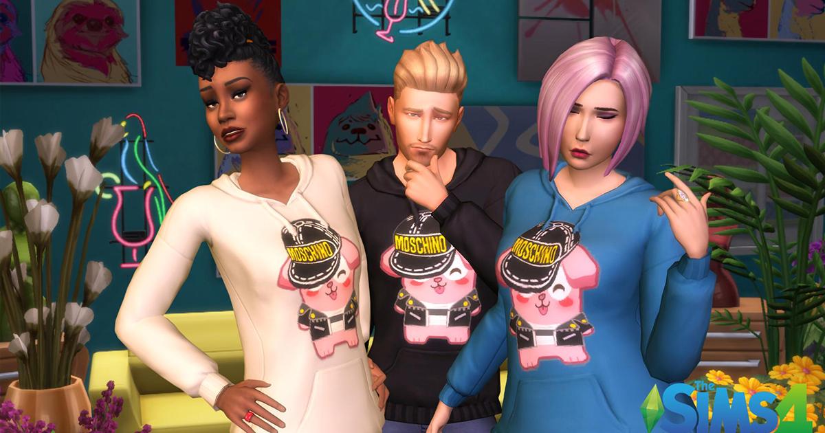 The Sims 4 Moschino Coleção de Objetos