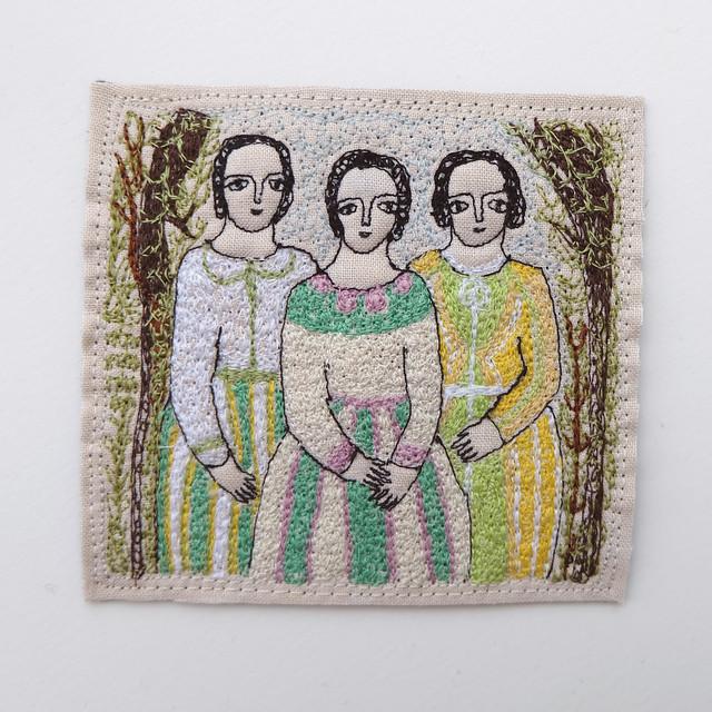 three women (spring stripes)