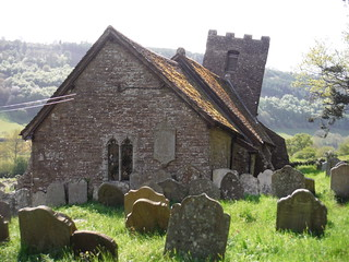 St. Martin's, Cwmyoy, the 'Leaning Church' SWC Walk 335 - Pandy Inn to Llanvihangel Crucorney (via Llanthony and Cwmyoy)