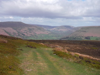 View up the Vale of Ewyas, from Hatterrall Hill SWC Walk 335 - Pandy Inn to Llanvihangel Crucorney (via Llanthony and Cwmyoy)