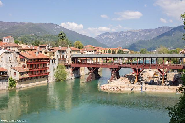 Ponte degli Alpini visto da Palazzo Sturm, Bassano del Grappa