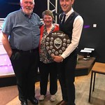 Michael Clark is presented with his award by Keith & Ruby Petrie