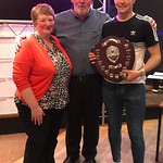 Fans Player of the Year is presented his award by Keith and Ruby Petrie