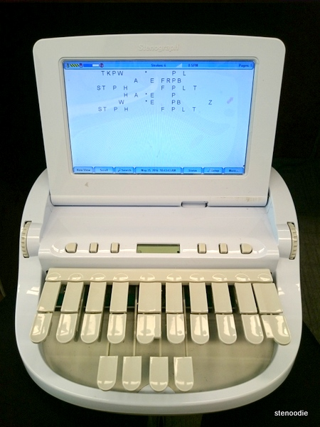 Diamante steno machine