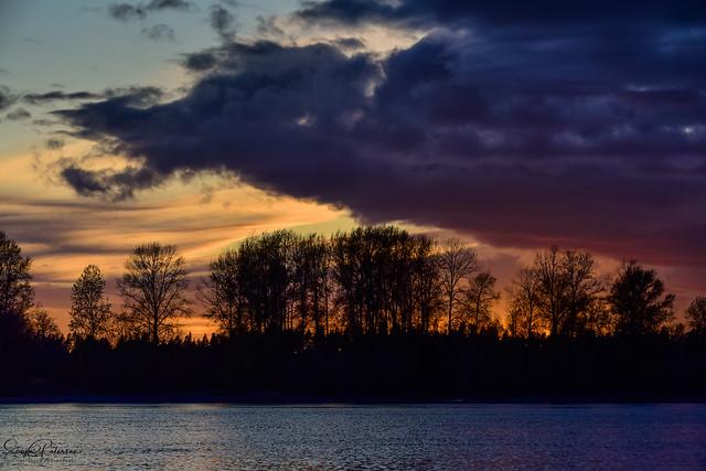 Kanaka Creek Regional Park - Fraser River Sunset