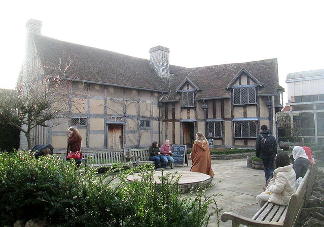 Stratford-upon-Avon, Shakespeare's House From Rear