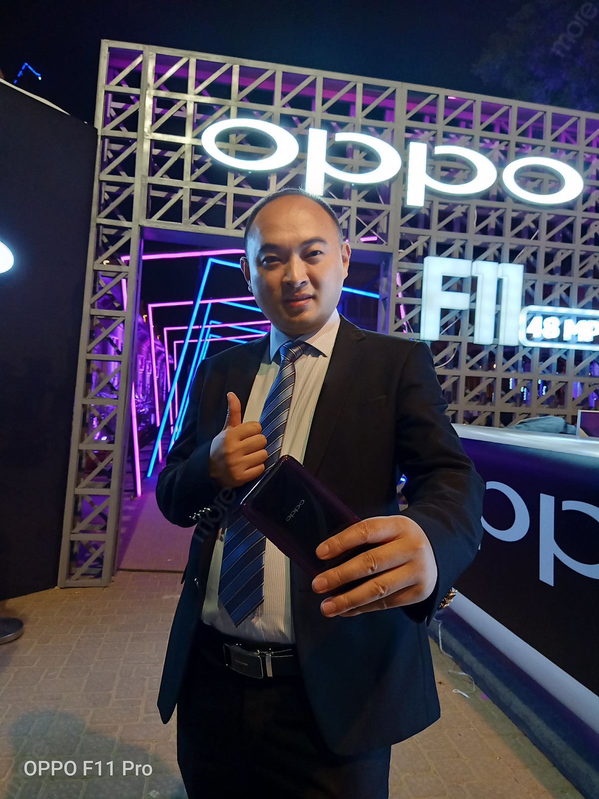 Geroge Long, CEO Oppo Pakistan at the Launch of Oppo F11 Pro