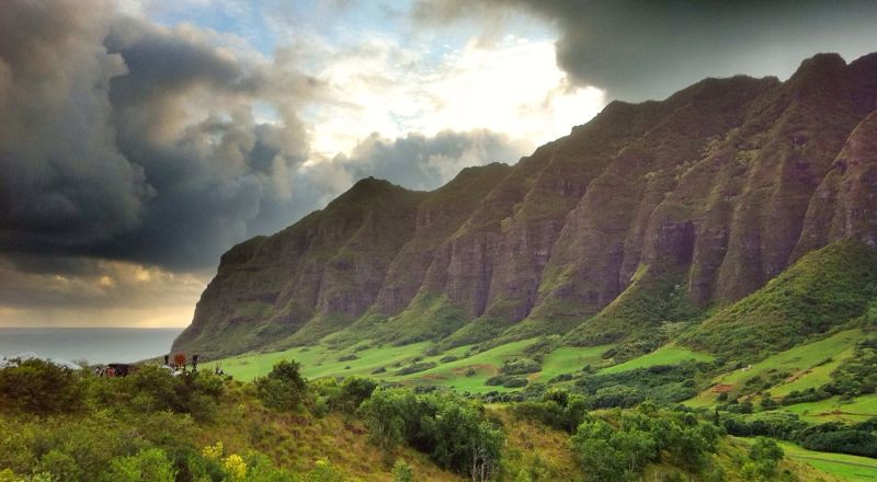 Hawaii scenary location