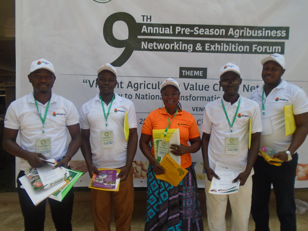 Africa RISING partners at the 9th Annual Pre-season Agribusiness Networking and Exhibition Forum in Tamale, Northern Ghana. Photo credit: Wilhelmina Ofori-Duah/IITA.
