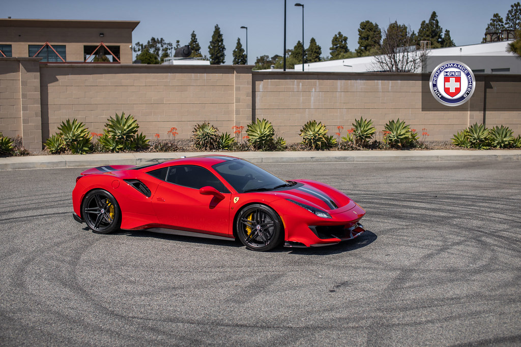 Ferrari 488 Pista With Hre P107sc In Satin Black A Photo On Flickriver