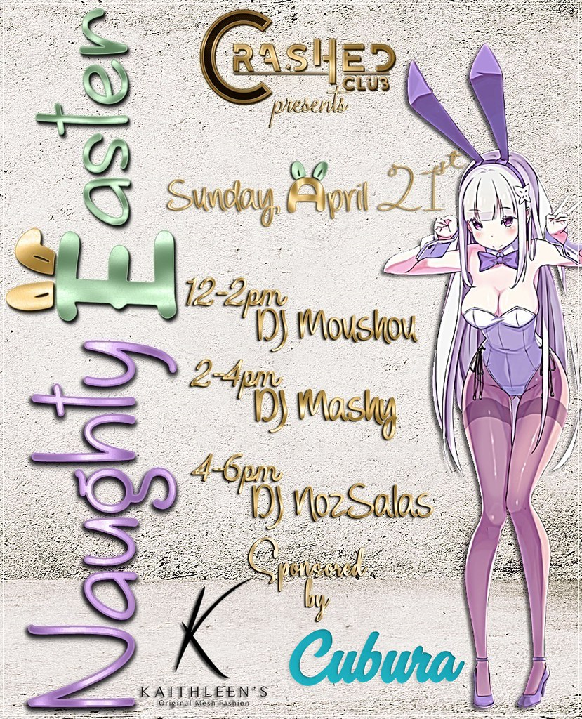"Sunday ""Naughty Easter"" at CrasHed - TeleportHub.com Live!"