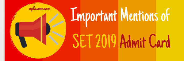 SET 2019 Admit Card Released for SET, SLAT, SEED, SITEEE at set-test.org