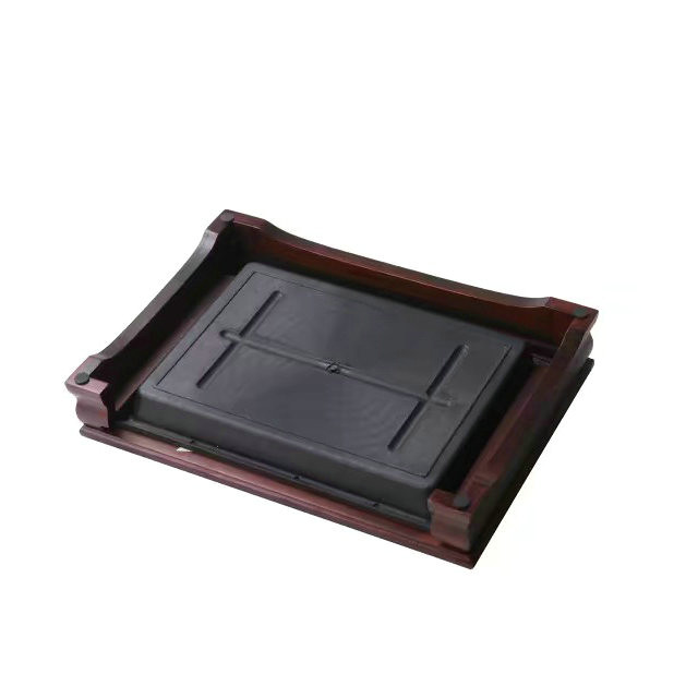 Bamboo Tea Tray with Plastic Water Tank  L37*W26*H7cm