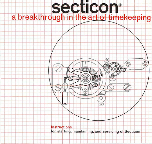 Cover of a prospectus for Secticon clocks, 1960-61.