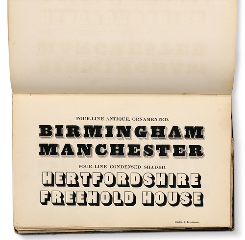 Caslon specimen books, 1830s.
