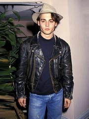 Johnny Depp Black Leather Jacket