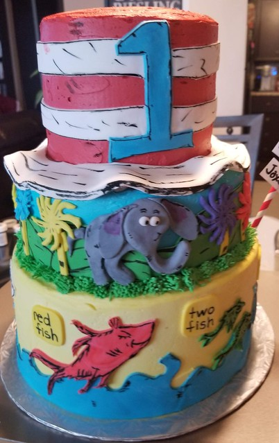 Dr.Seuss Inspired Cake by Sabina Arora of Devilish Delights