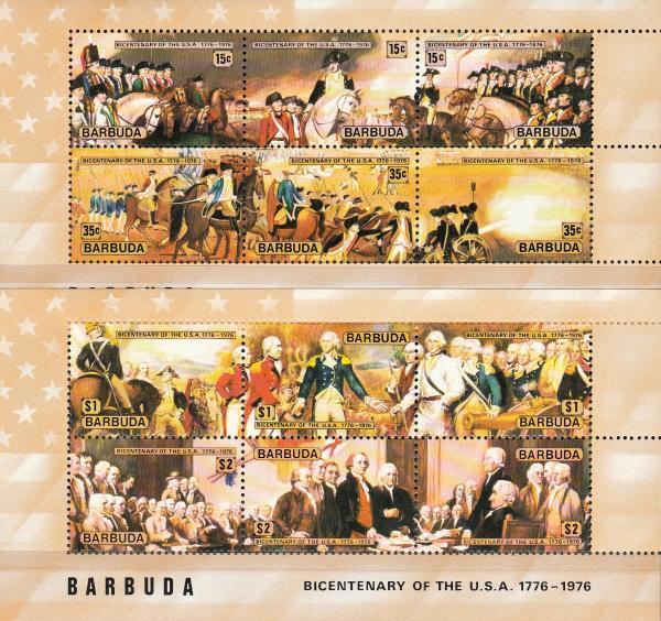 Známky Bermudy 1976 Vznik USA MNH CV $5.25