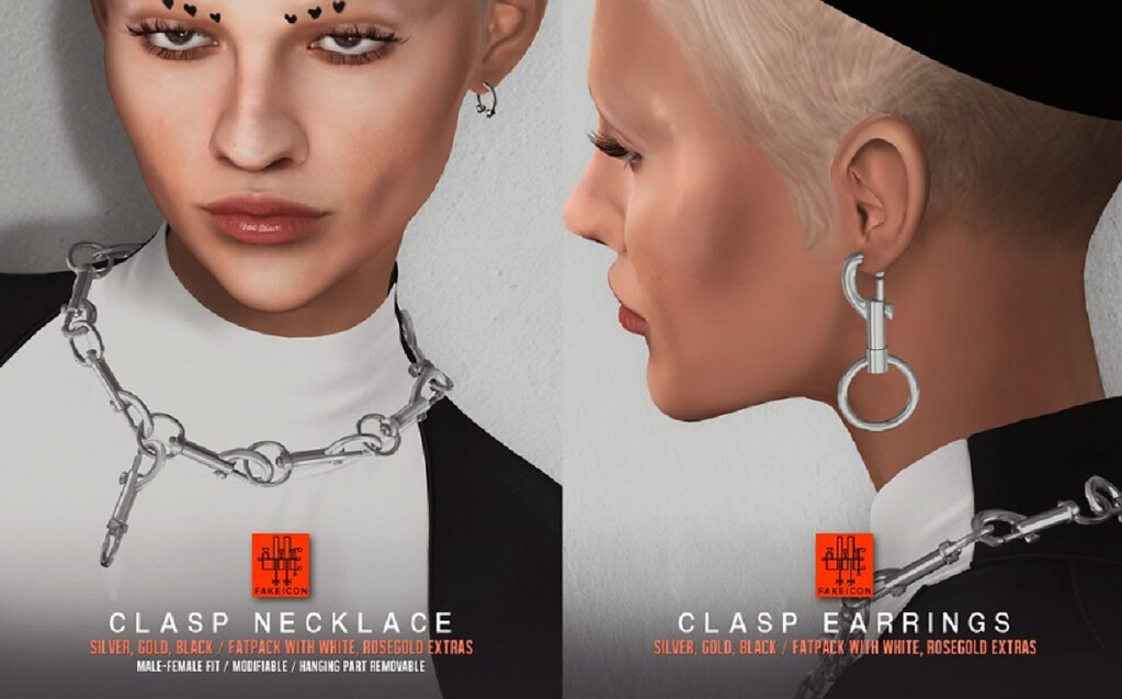 Fakeicon – clasp necklace+earrings @ equal10