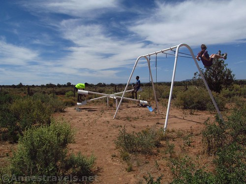 Playground equipment behind the Mount Trumbull Schoolhouse in Grand Canyon Parashant National Monument, Arizona