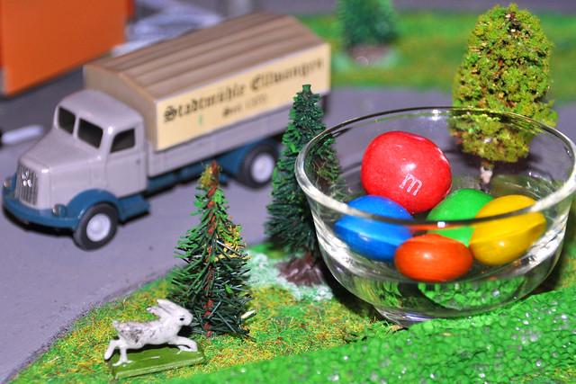 Ostern im H0-Modellbahn-Städtchen PUTZINGEN --- Foto: Brigitte Stolle