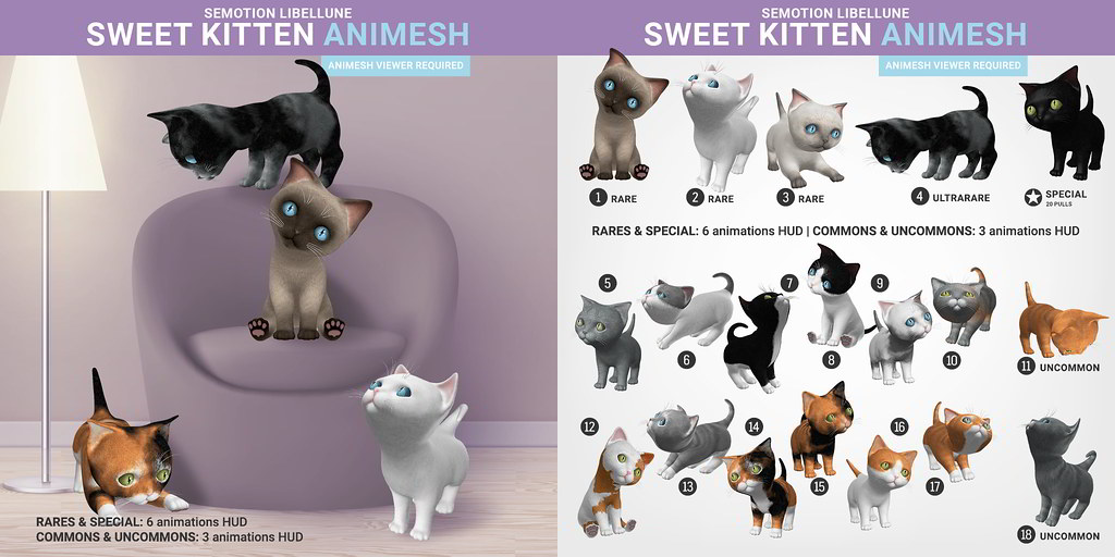 SEmotion x Libellune Sweet Kitten Animesh