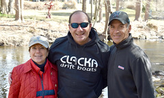 Ct State Reps. Livvy Floren (R-149) and Fred Camillo (R-151) stocked the Mianus River with over 600 trout ahead of Opening Day of Fishing Season on CT rivers and streams. Joining them was Paul Chiappetta, VP of the Mianus Chapter of Trout Unlimited.
