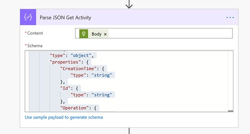 Parse JSON Get activity