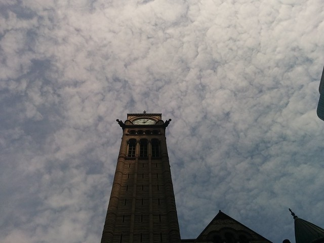 Looking up #toronto #oldcityhall #queenstreet #queenstreetwest #sky #clouds #clocktower