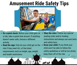 Amusement Ride Safety Tips (Kids on Ride)  - Facebook | by preventchildinjury