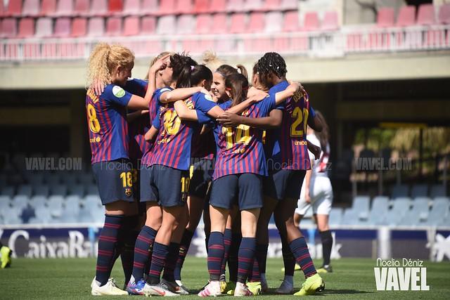 Celebración de un gol marcado ante el Sevilla Fútbol Club en la jornada 29 de la Liga Iberdrola | Foto de Noelia Déniz, VAVEL