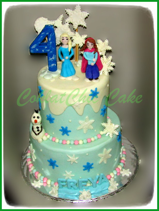 Disney Frozen Coklatchic Cake