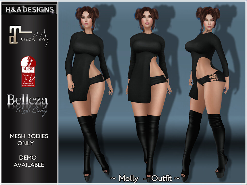 [H&A Designs]-Molly Outfit Black