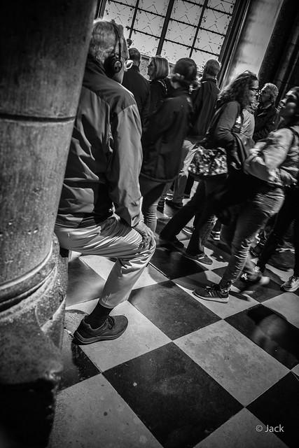 les touristes de Notre Dame