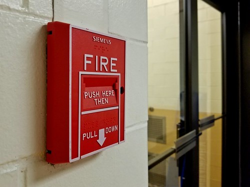 Fire alarm in Armstrong Hall [02]