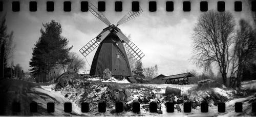 windmill sprockets spring landscape