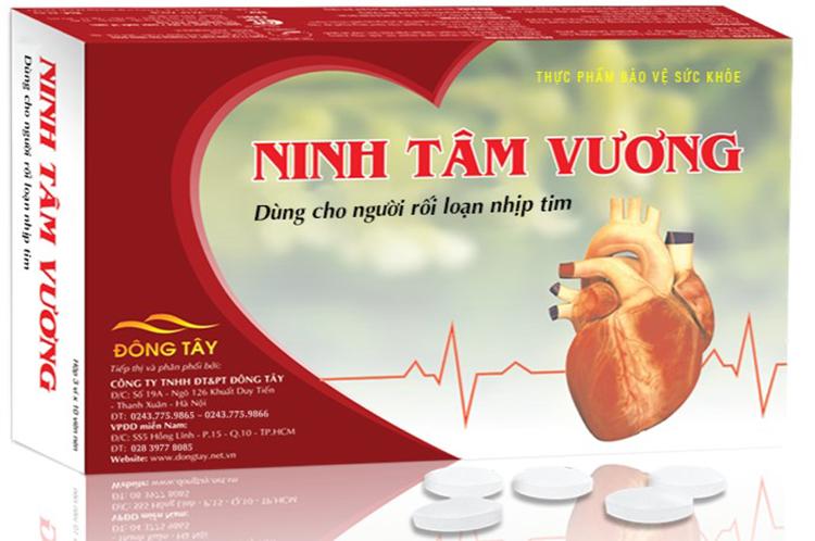Thông tin về thực phẩm bảo vệ sức khỏe Ninh Tâm Vương – Dùng cho người rối loạn nhịp tim