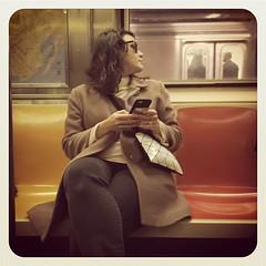 Thursday morning 3 train. #nycsubwayportraits #nyc #train #subway #metro #mta #publictransportation #commute #passenger #stranger #3train