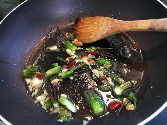 Fried rice with shrimp and KOSHIABURA